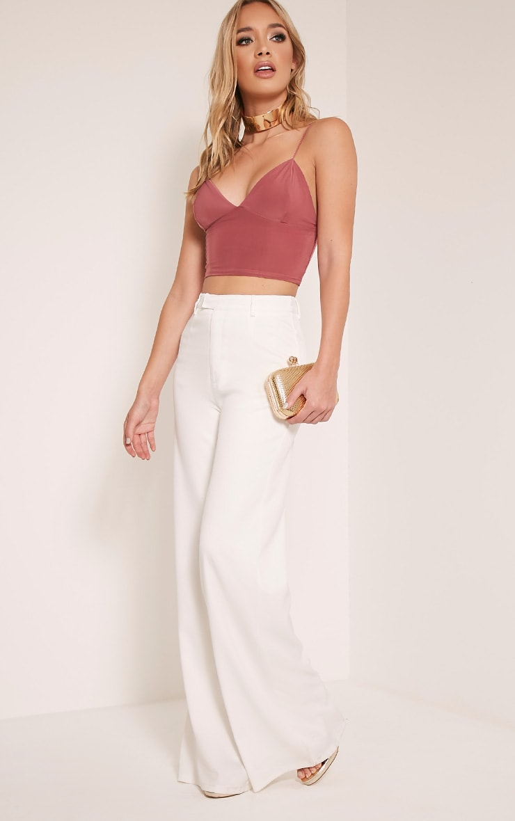 Azariah Rose Slinky Plunge Crop Top 5