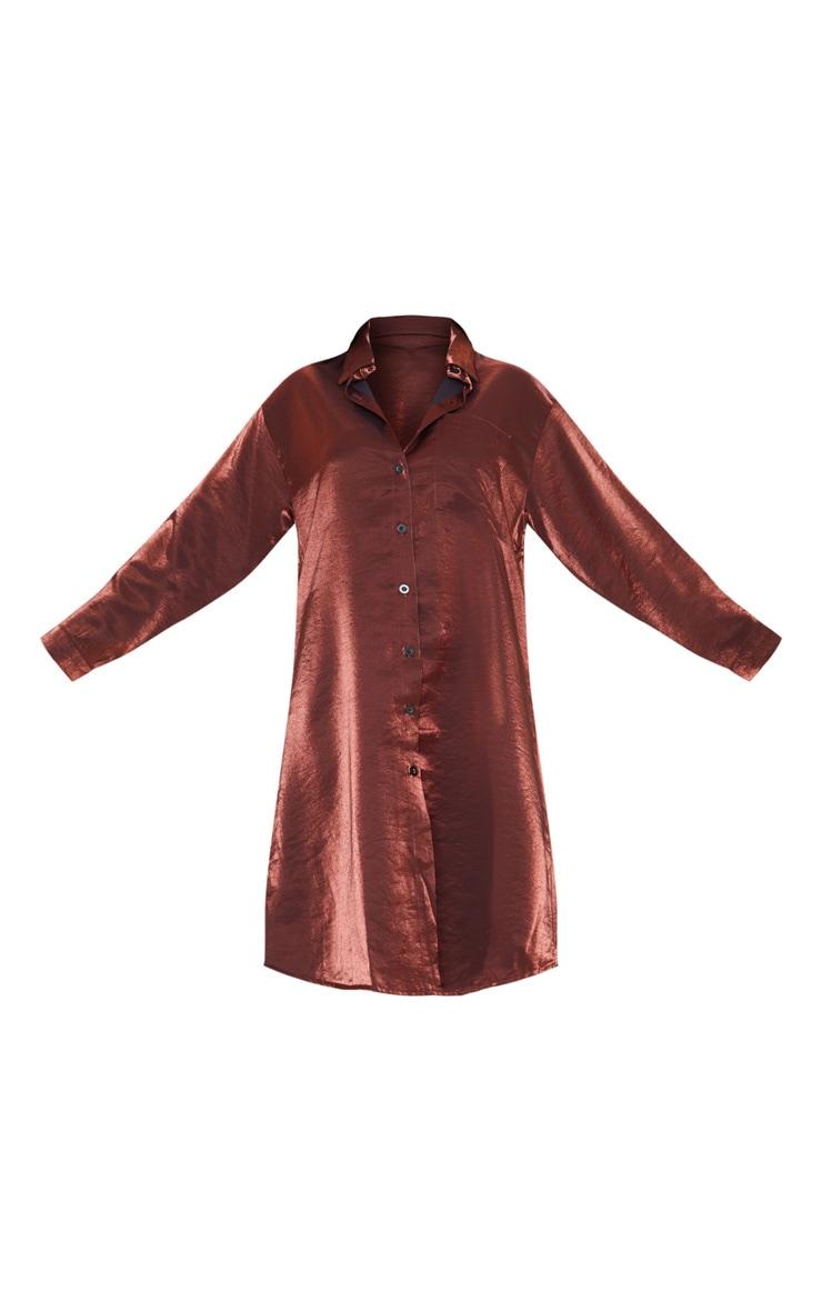 Bronze Metallic Shirt Dress 3
