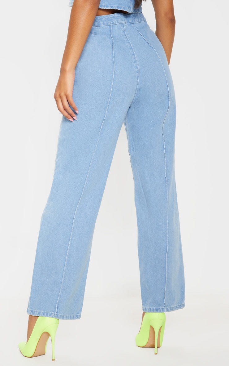 Light Blue Wash Wide Leg Jeans 5