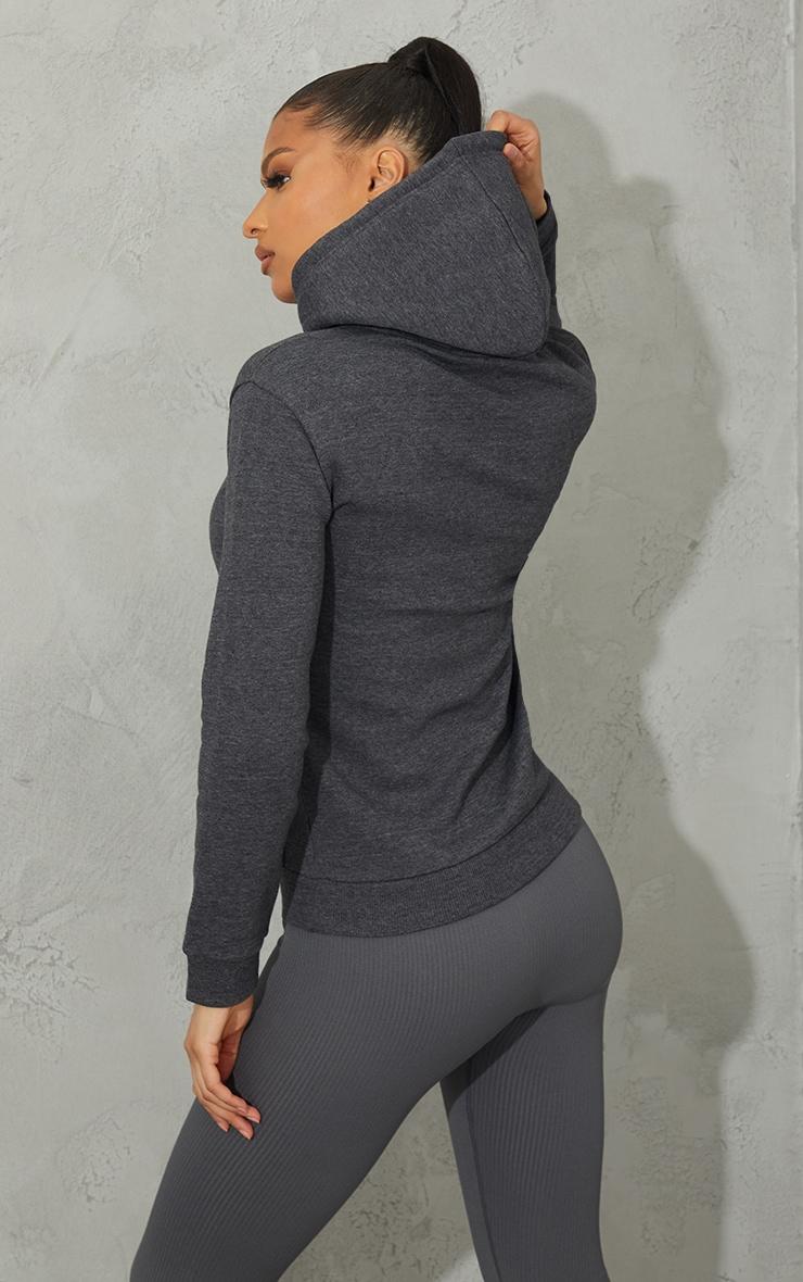 Basic Charcoal Slim Hoodie 2