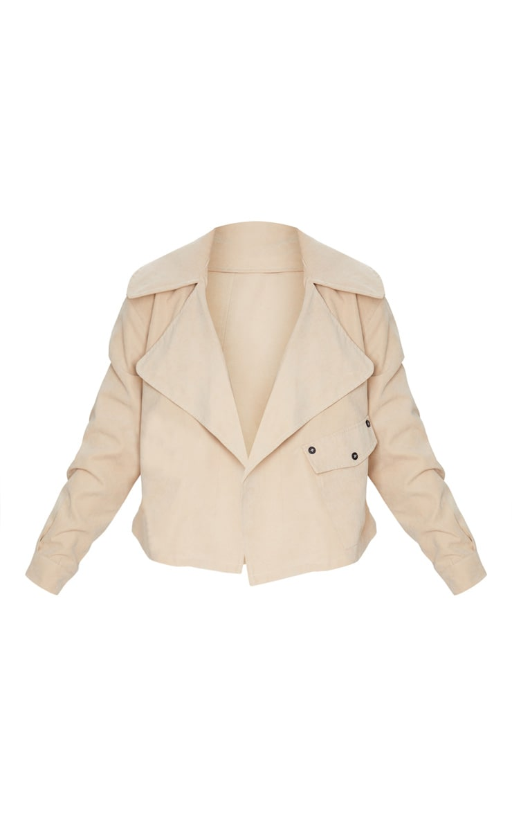 Petite Stone Cropped Trench Coat 3