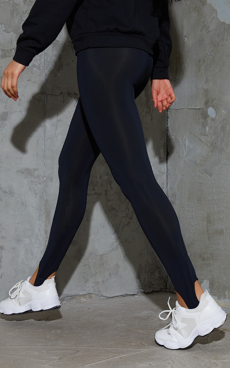 Black Stirrup Gym Leggings 3