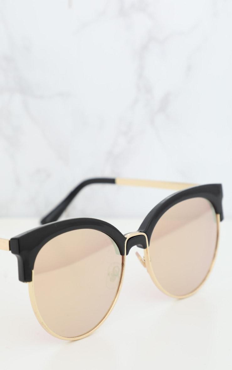 Pink Lense Mirrored Sunglasses 3