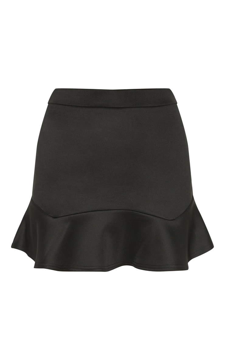 Verity Black Flippy Hem Mini Skirt 3