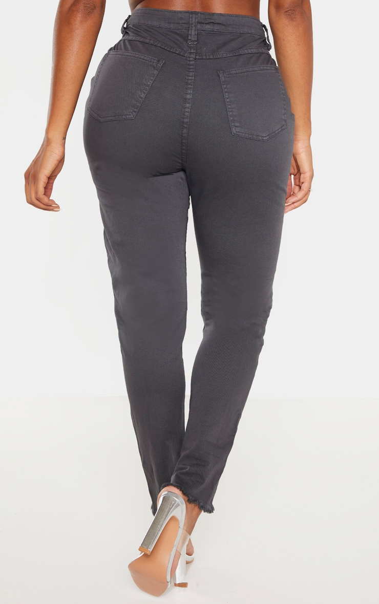 Shape - Jean skinny gris anthracite taille haute 4