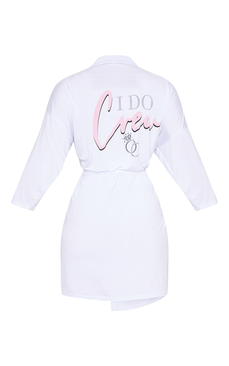 White I Do Crew Hen Party Robe 6
