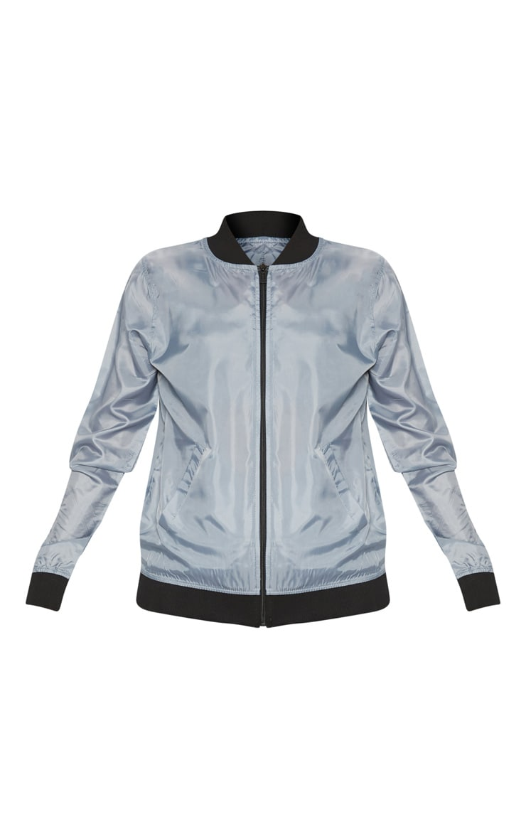 Grey Lightweight Bomber Jacket 3