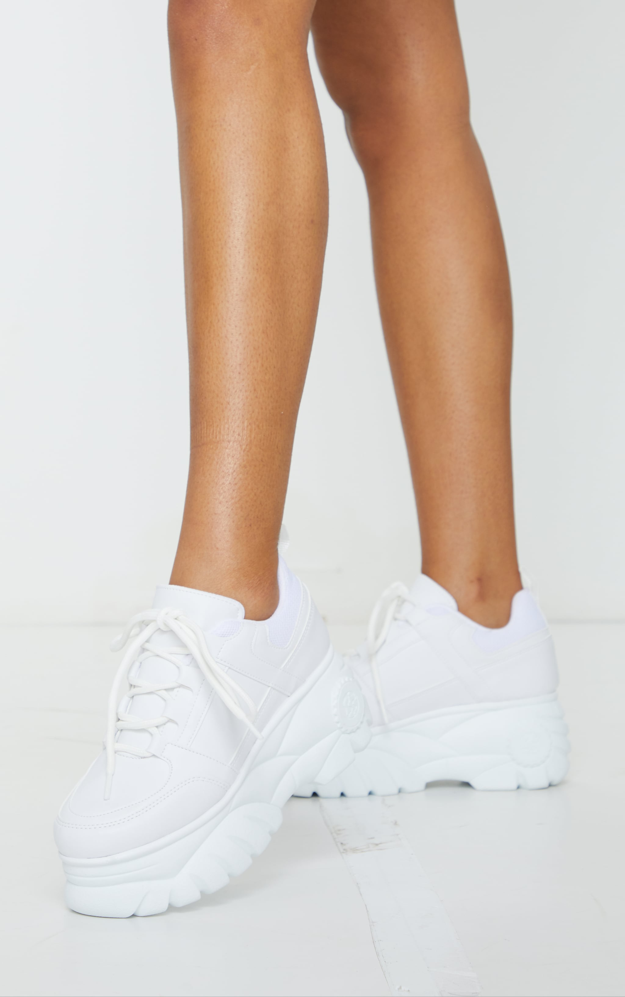 White Outer Shoe Loops Extreme Platform Sneakers 2