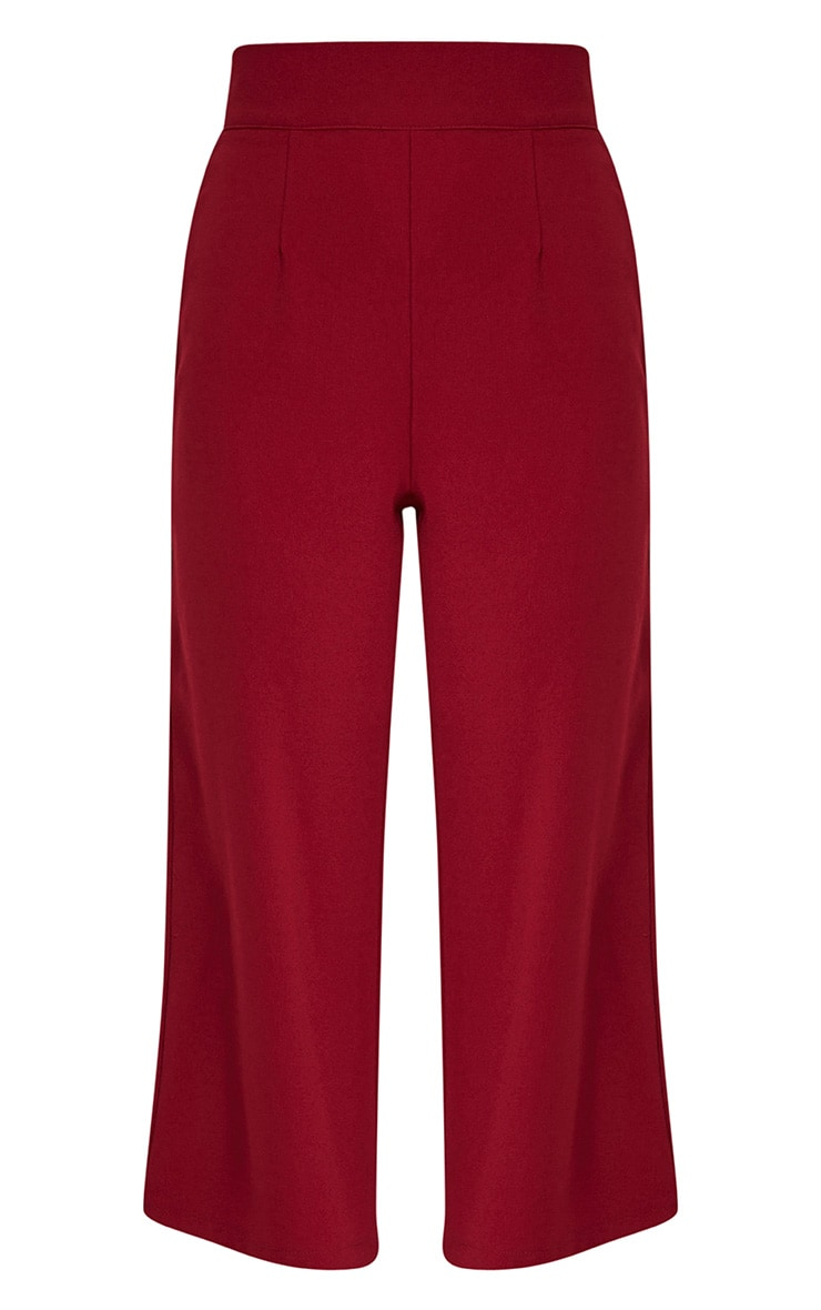 Tazmin Burgundy High Waisted Culottes 3