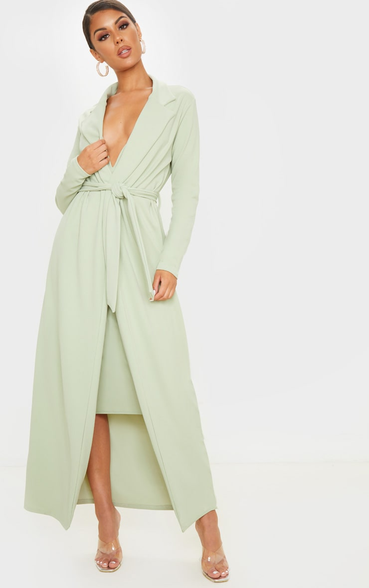 Sage Green Maxi Duster 1