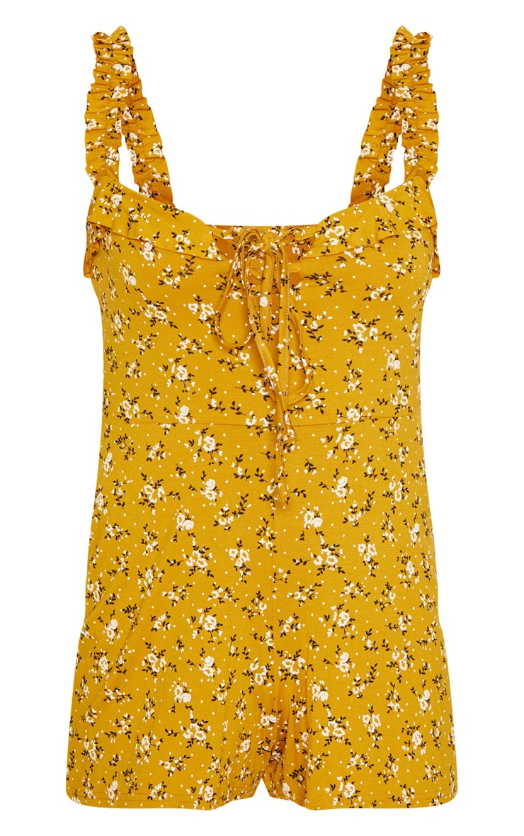 Yellow Ditsy Floral Playsuit 2