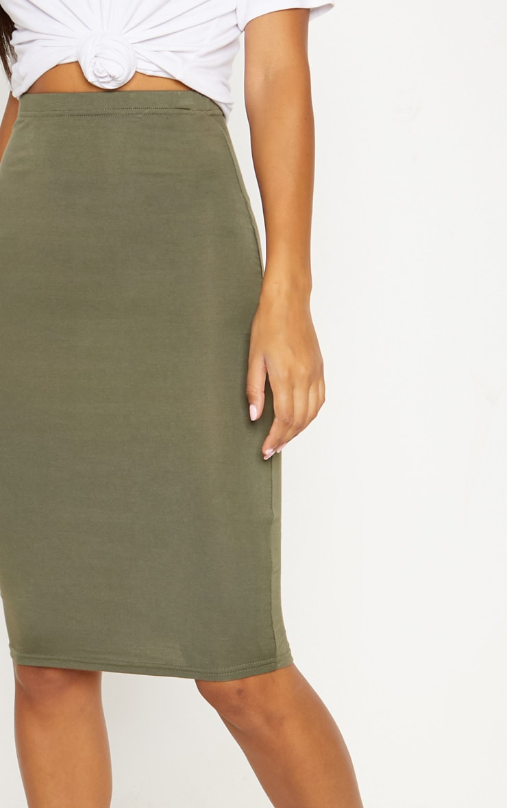 Basic Black & Khaki Jersey Midi Skirt 2 Pack 8