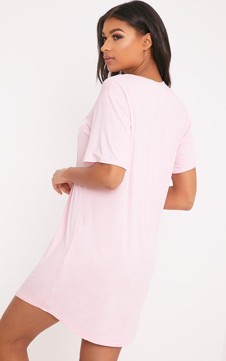 Chemise de nuit surdimensionnée rose Princess 2