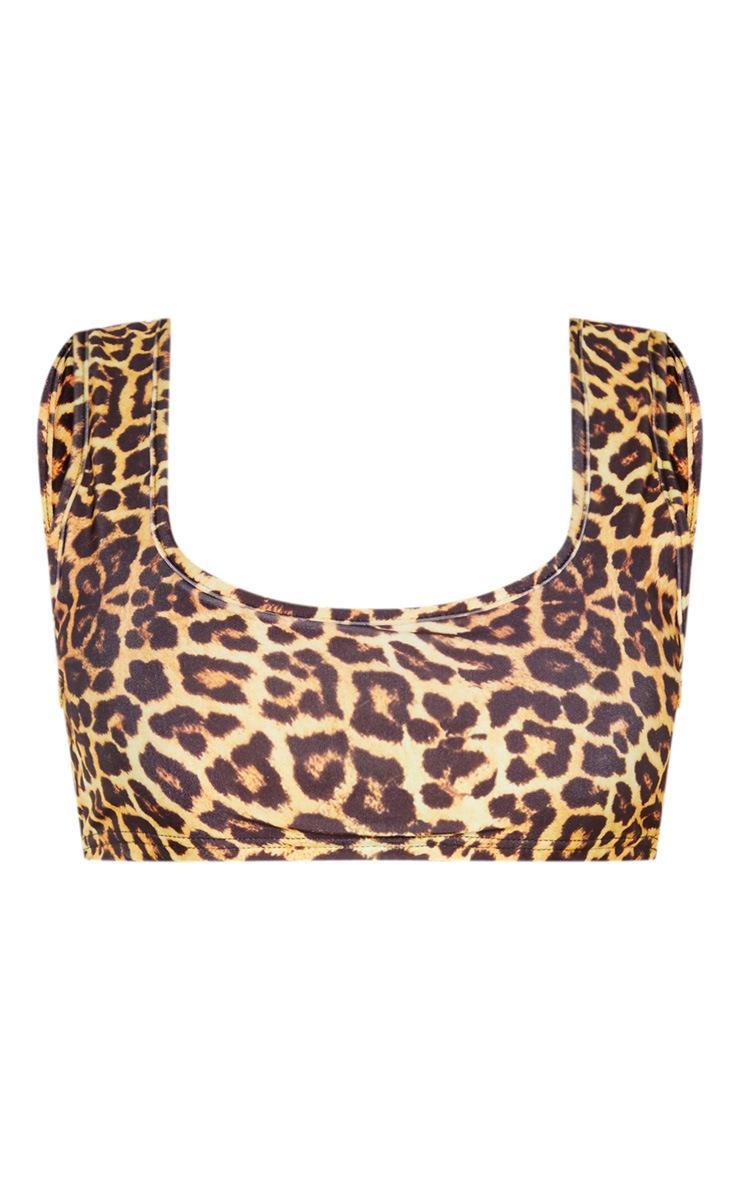 Leopard Mix & Match Scoop Neck Bikini Top 3