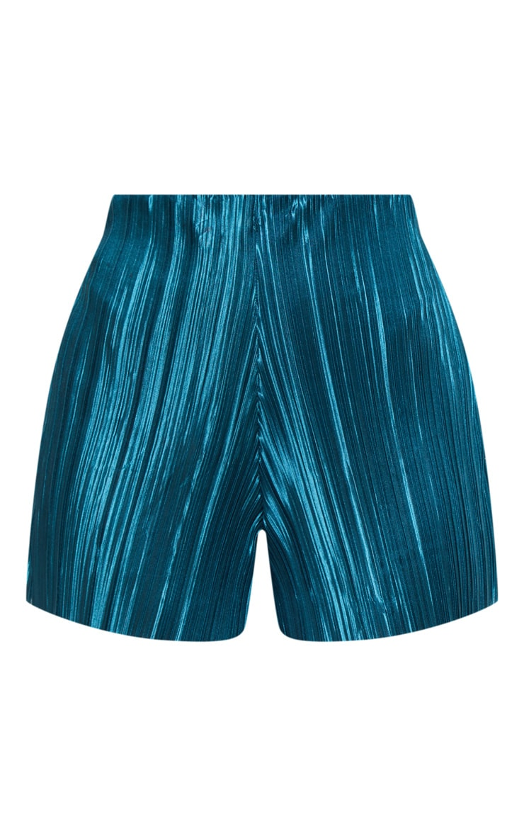Emerald Green Plisse Floaty Short  3