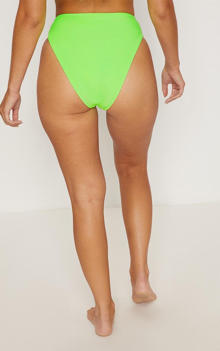 Lime Mix & Match High Waisted High Leg Bikini Bottom 3