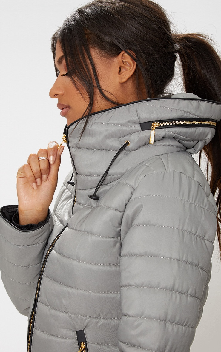 Mara Grey Puffer Jacket 5