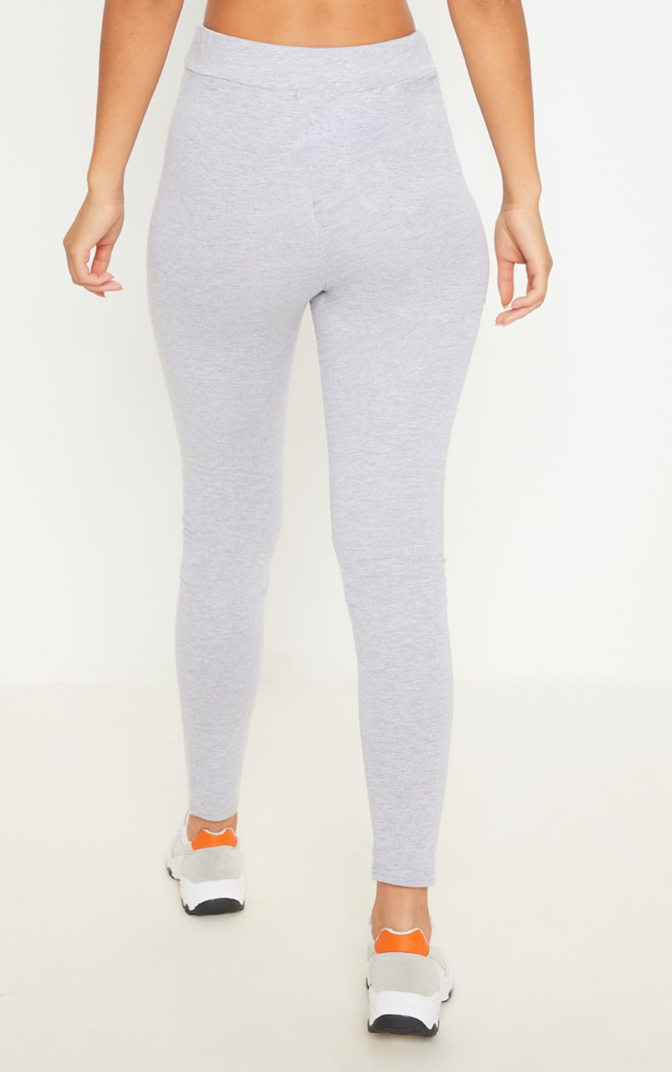 Charcaol Grey Drawstring Cotton Legging 4