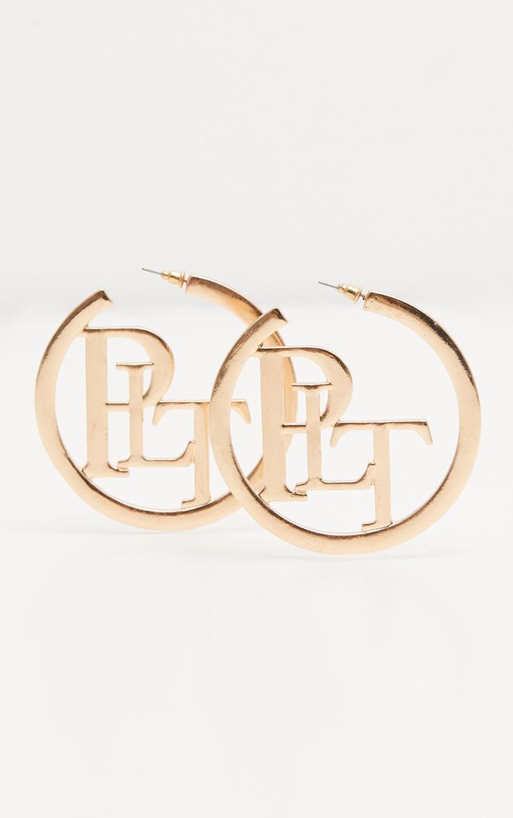 PRETTYLITTLETHING Gold Hoop Earrings 2