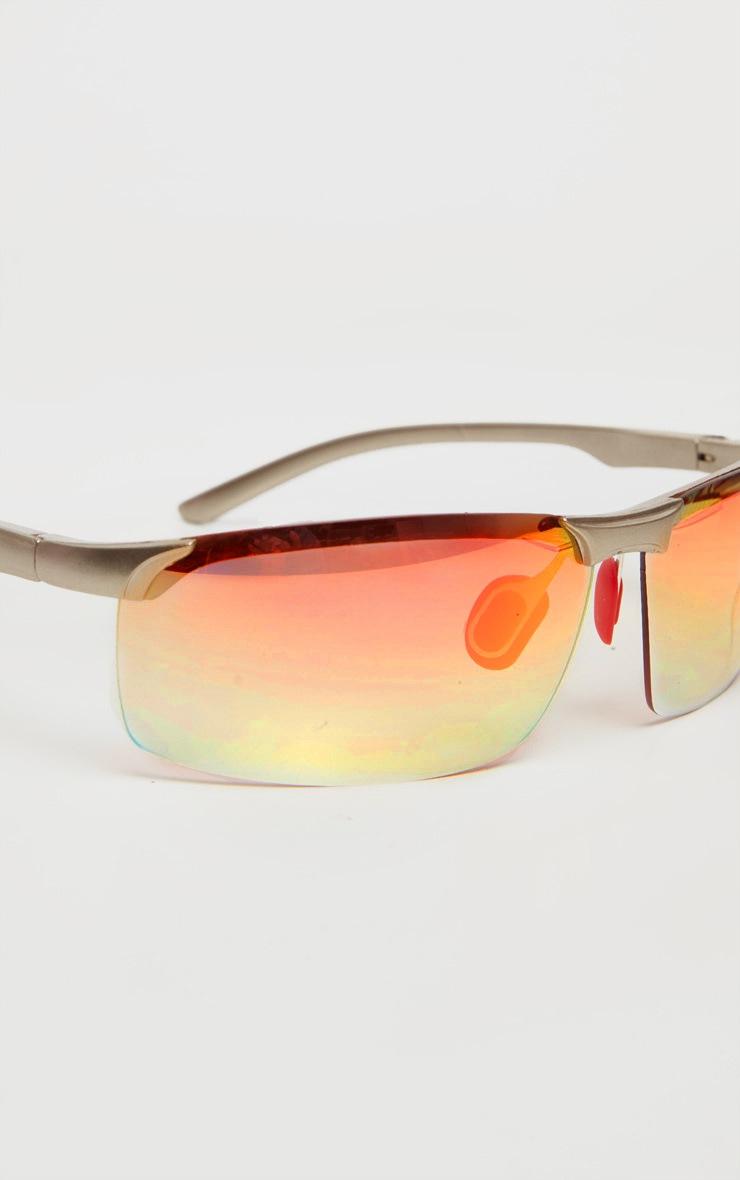 Gold Multi Coloured Lens Sunglasses 4
