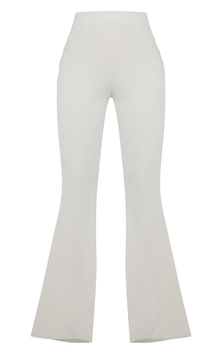 Grey Crepe Extreme Flare Trouser 3