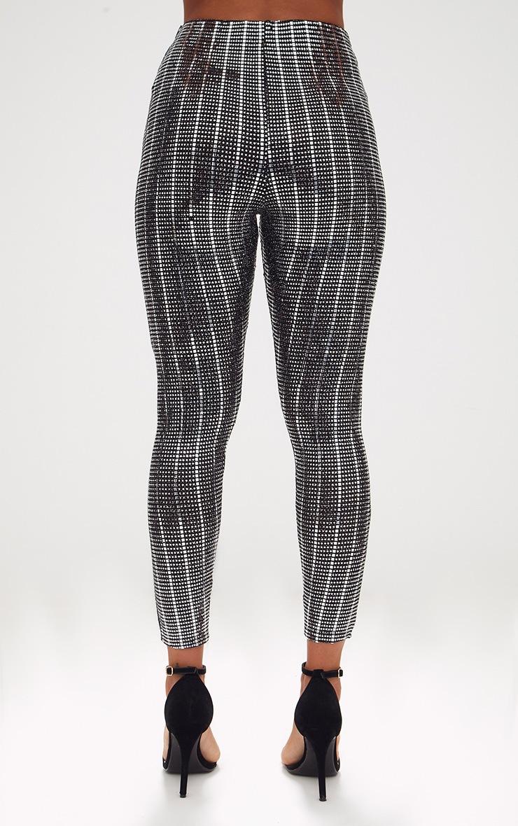 Black Disco Sequin Skinny Trousers 3