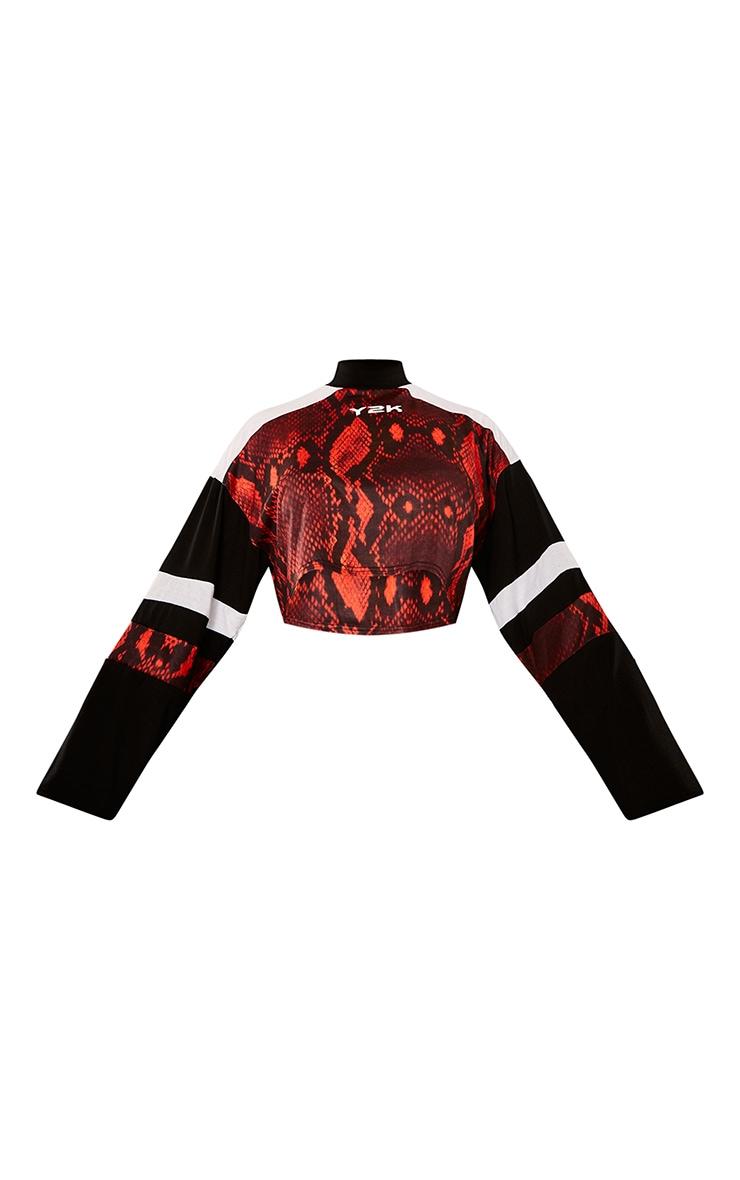 Red Snake Motorcross Panel Crop Top 6