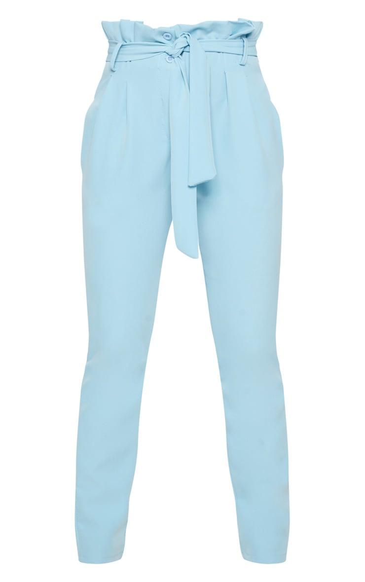 Powder Blue Paperbag Waist Trousers 3