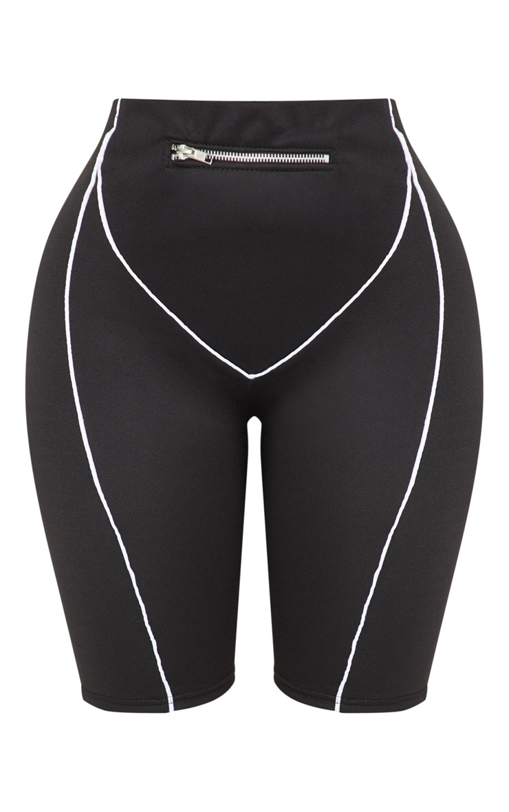 Shape Black Zip Detail Bike Shorts 3