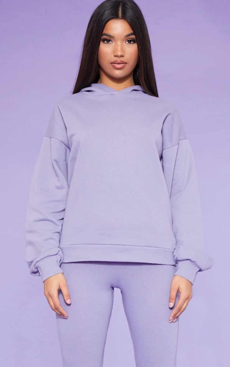 RECYCLED Violet Oversized Hoodie 1