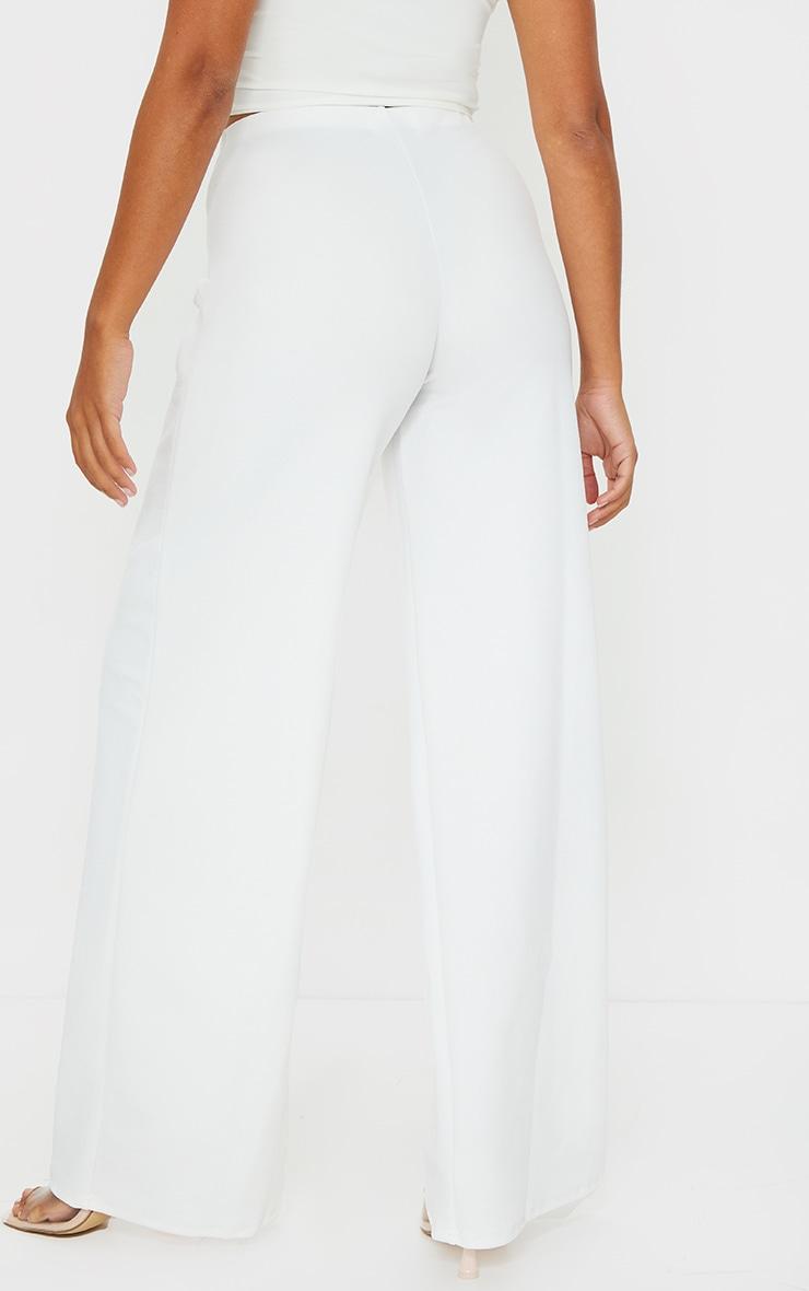 Petite White Wide Leg Pants 3