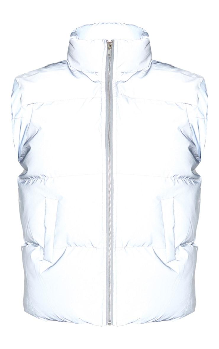 Grey Reflective Puffer Gilet 3