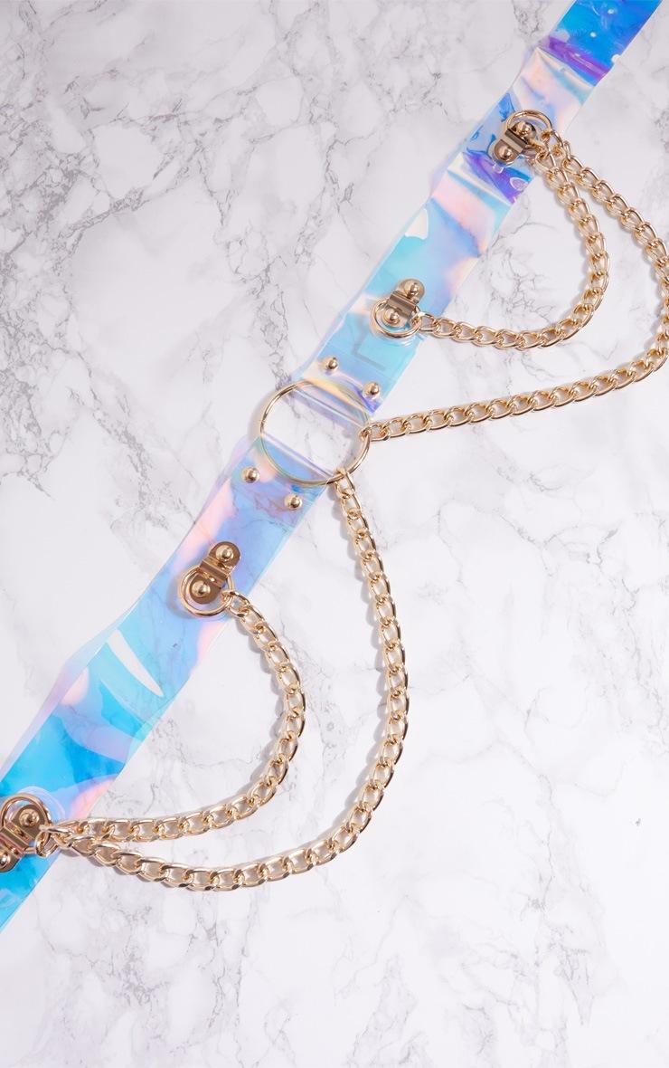 Iridescent Acrylic Chain Belt 4