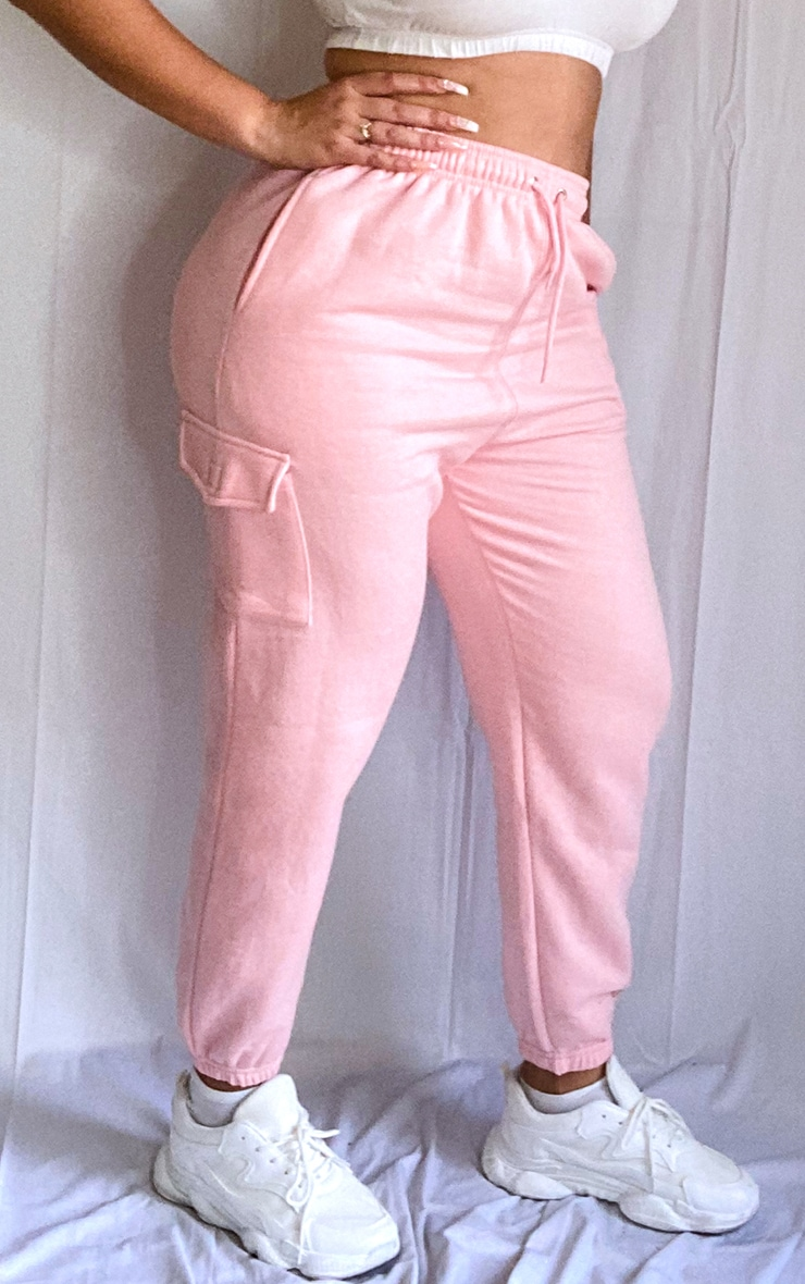 Plus Baby Pink Pocket Detail Joggers 2