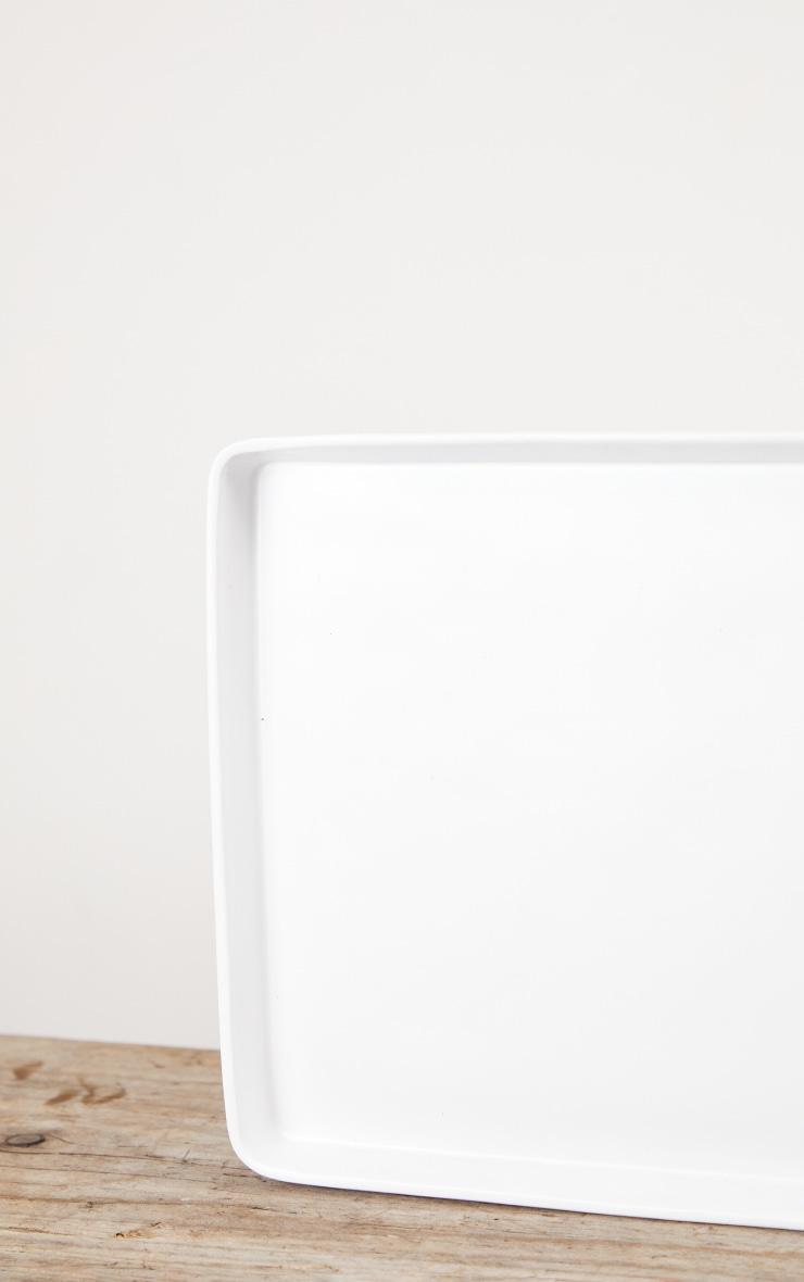 Matte White Decorative Tray Large 5
