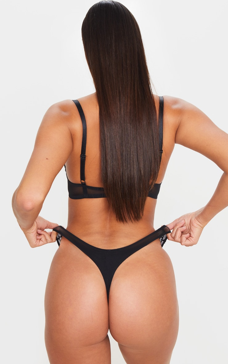 Red Ann Summers Contrast Lace Thong 6