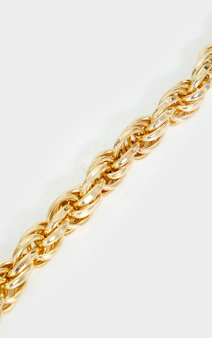 Gold Chunky Oversized Rope Chain Necklace 3