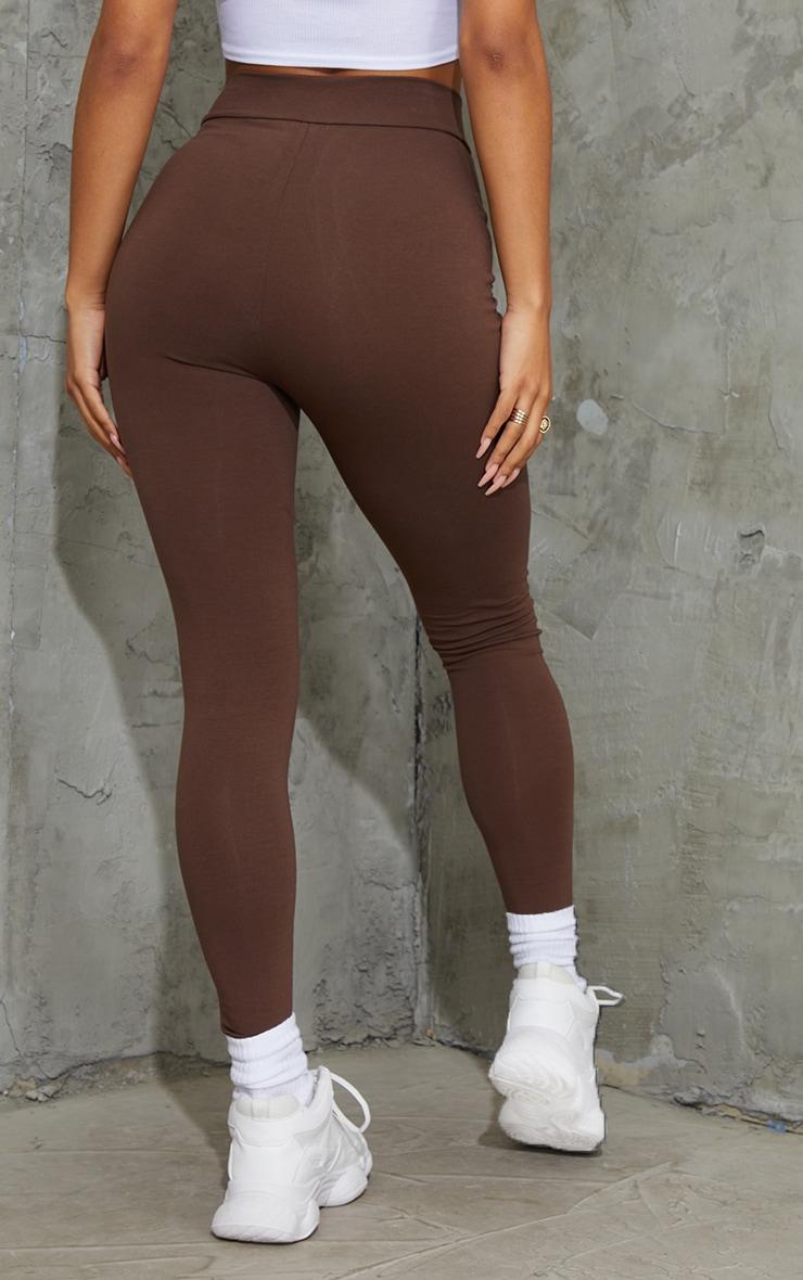 Chocolate  Popper Front Leggings 3