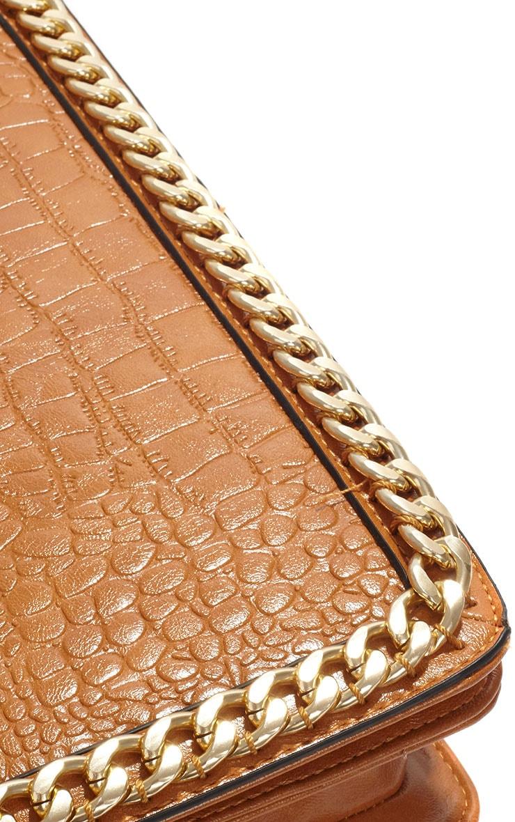Ophelia Tan Chain Detail Bag 4