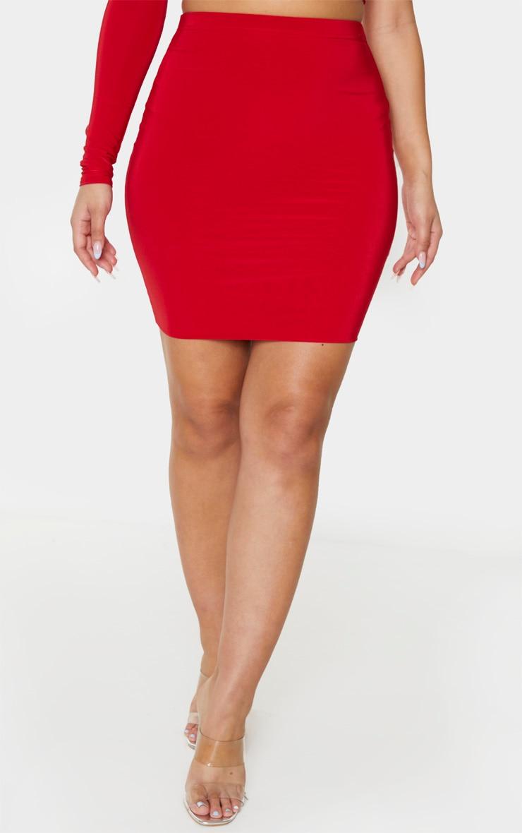 Red Slinky Mini Skirt 2