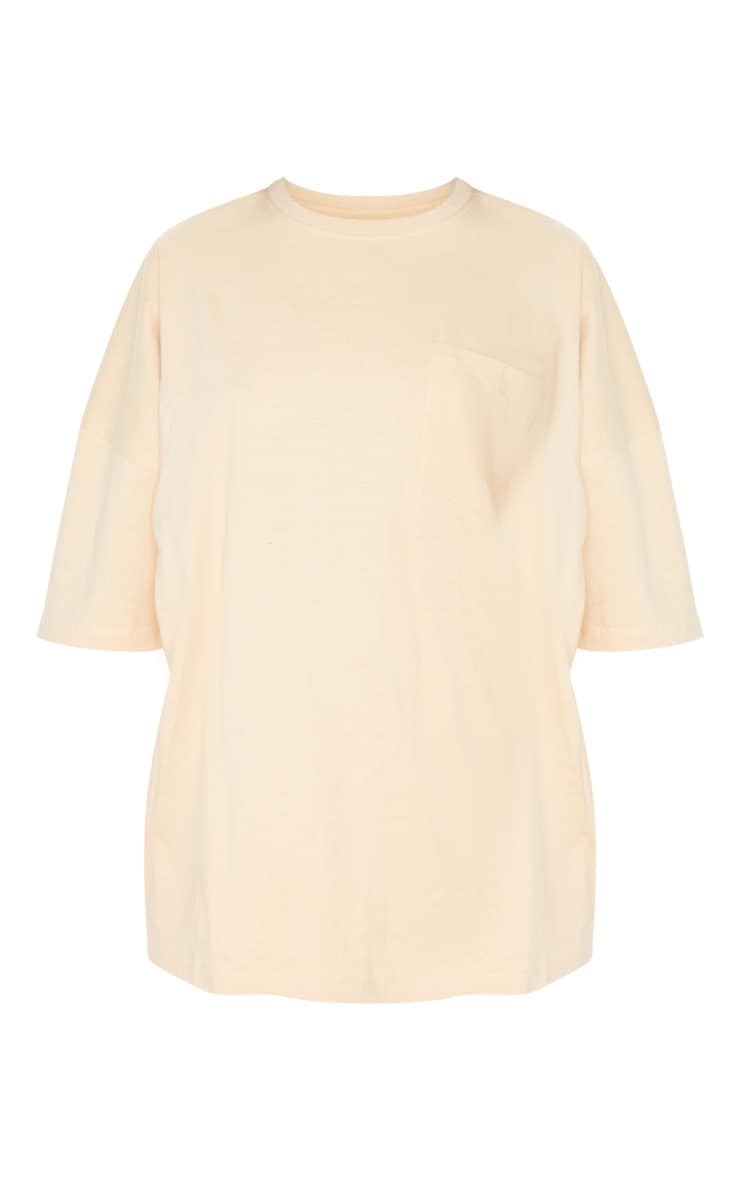 Sand Pocket Front Oversized T Shirt 3