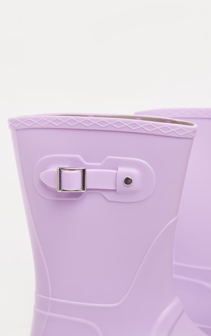 Lilac Pastel Wellie 4