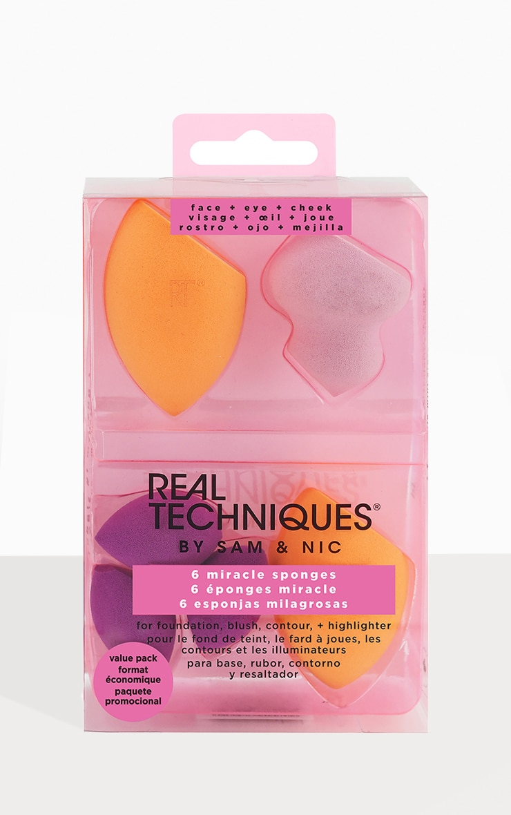 Real Techniques 6 Miracle Sponges Multipack 1