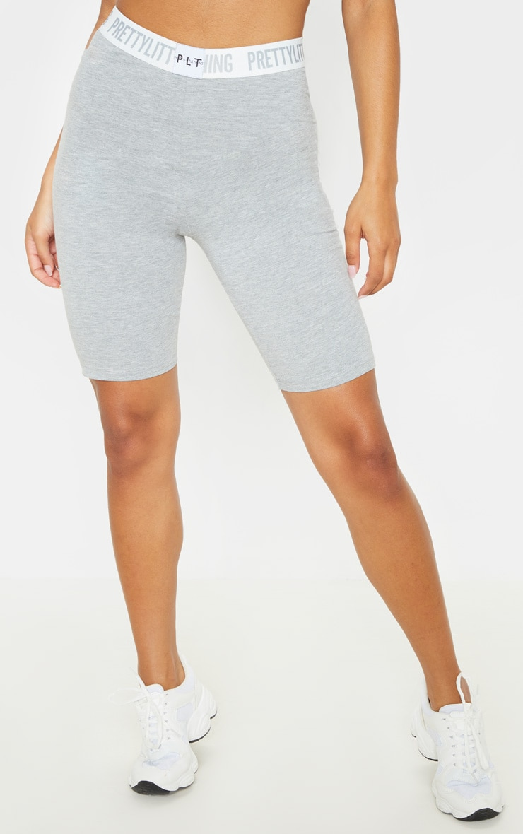 PRETTYLITTLETHING Grey Bike Short 2