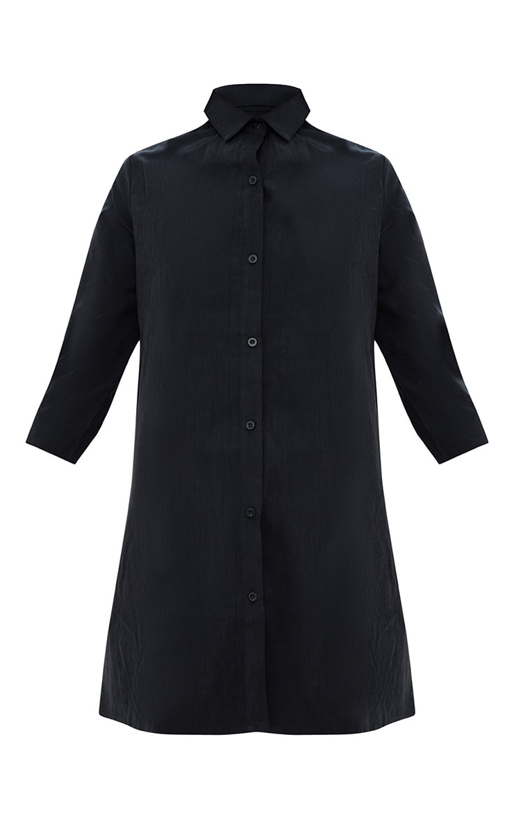 Leni Black Shirt Dress 3