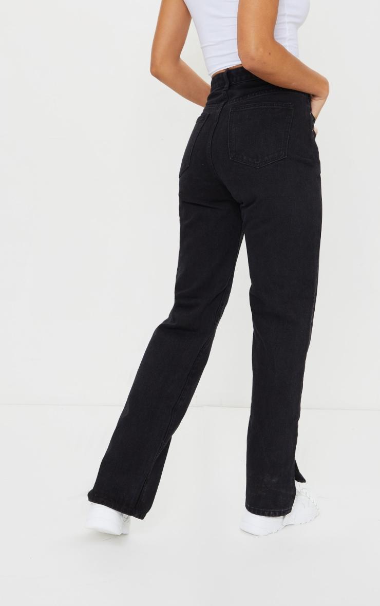 Black Split Hem Jeans 3