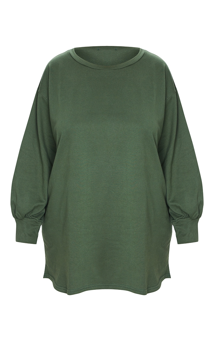 Plus Khaki Oversized Sweater Dress 5