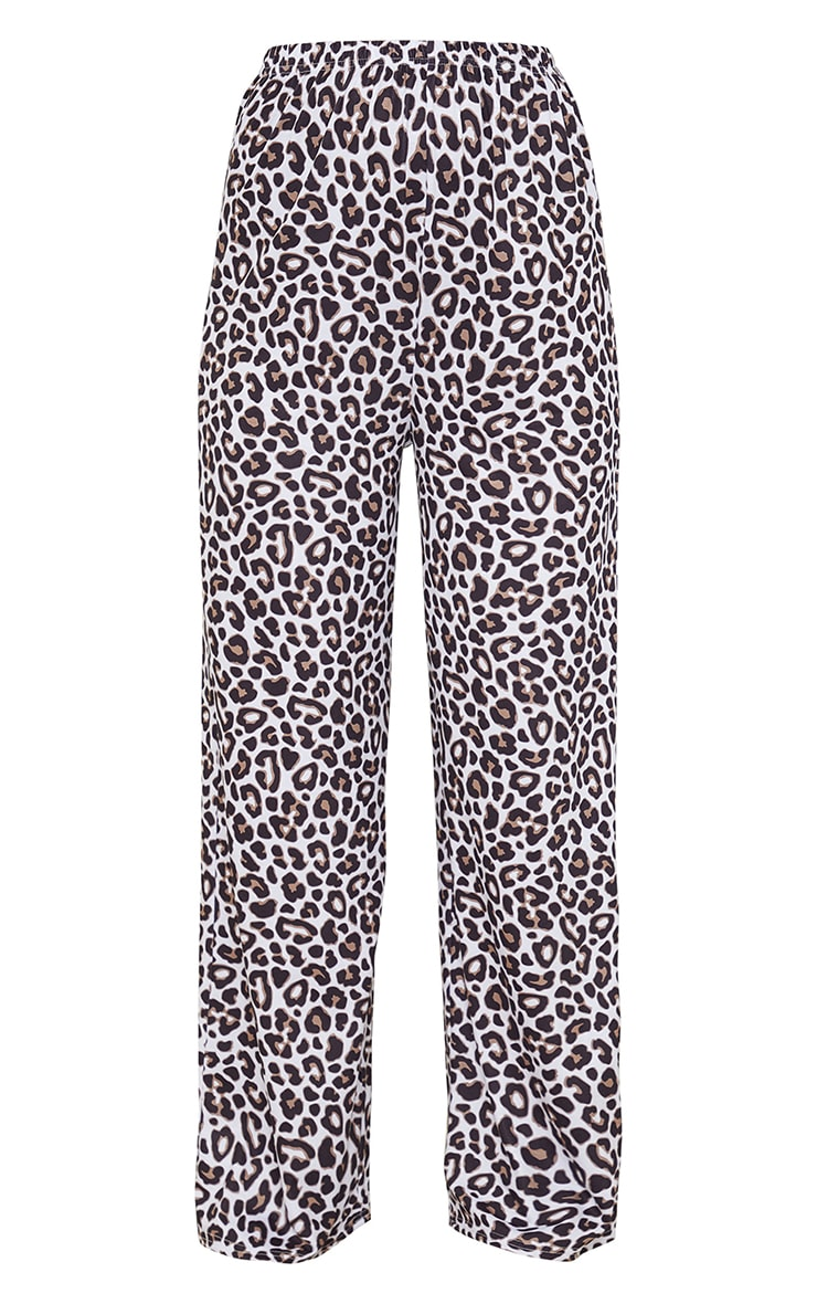 Brown Leopard Print Mix And Match Jersey PJ Trousers 5