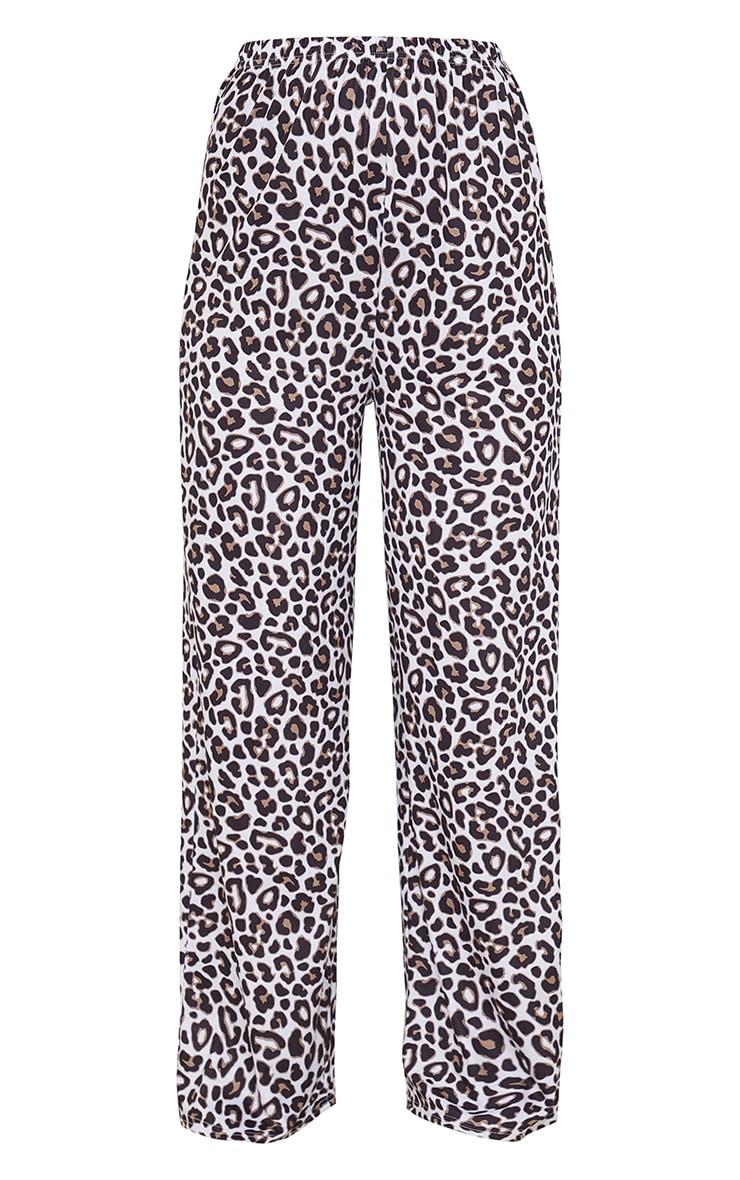 Brown Leopard Print Mix And Match Jersey PJ Pants 5