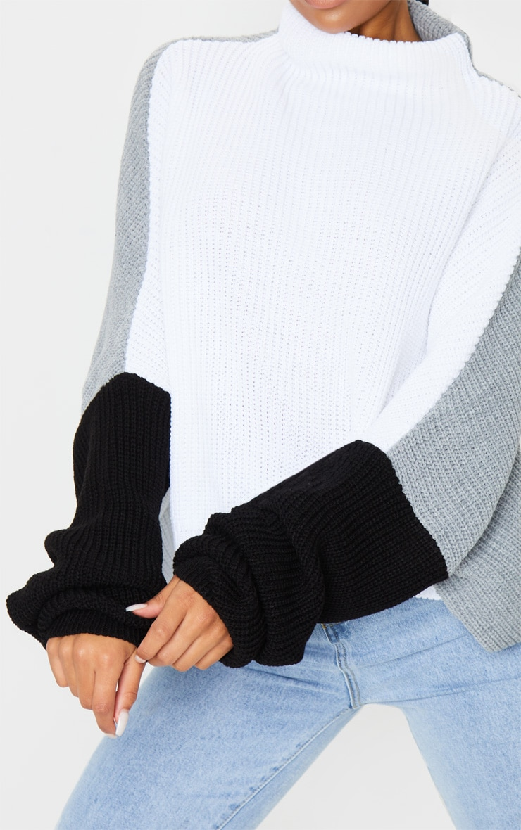 Monochrome Oversized Colour Block Sweater 4